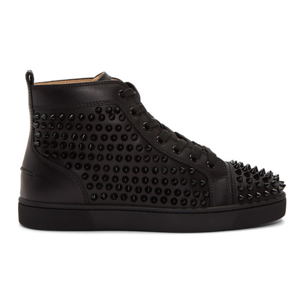 spikes sneakers black shoes