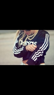 blouse,black adidas blouse short blog,bag,crop tops,cropstyle,sweater,adidas jumper,top,adidas sweater