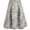 Aaliyah floral-jacqaurd midi skirt