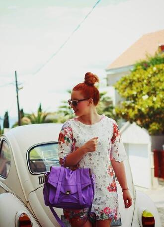 fashion bloggers lace dress floral dress