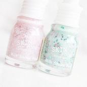 nail polish,glitters,nailpoilsh,white,turquoise