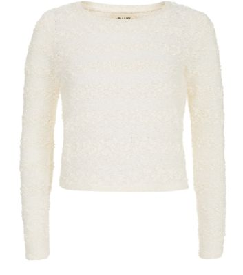 Cream Bobble Popcorn Stripe Jumpers