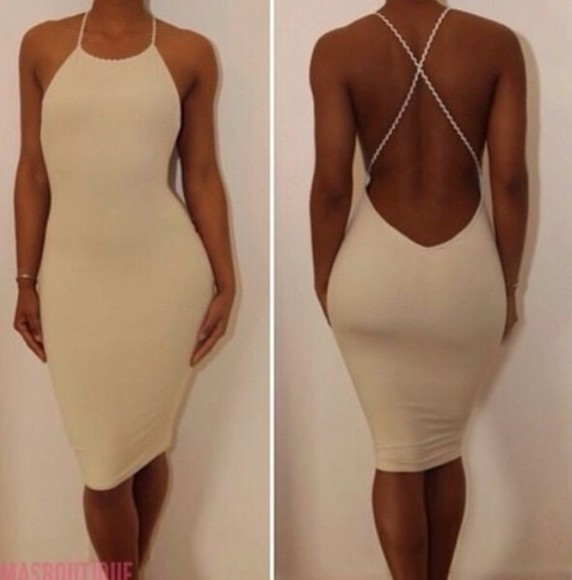 tan dress birthday coming up asap backless dress