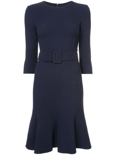 oscar de la renta dress shift dress women blue wool