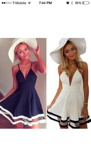 dress summer dress skater dress navy white stripes