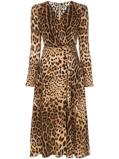 Dolce & Gabbana Leopard Print Flared Dress - Farfetch
