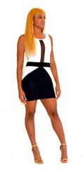 Touches of Black Mini Dress - 74th Terrace