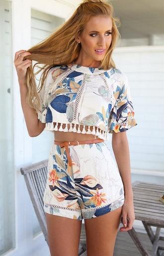 jumpsuit jum pompom shorts top crop tops shirt summer boho bohemian vintage hipster grunge summer outfits tumblr tumblr outfit tumblr girl dealsforyou cute vogue chanel