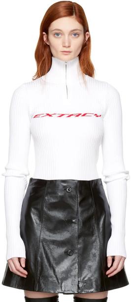 Misbhv sweater zip white