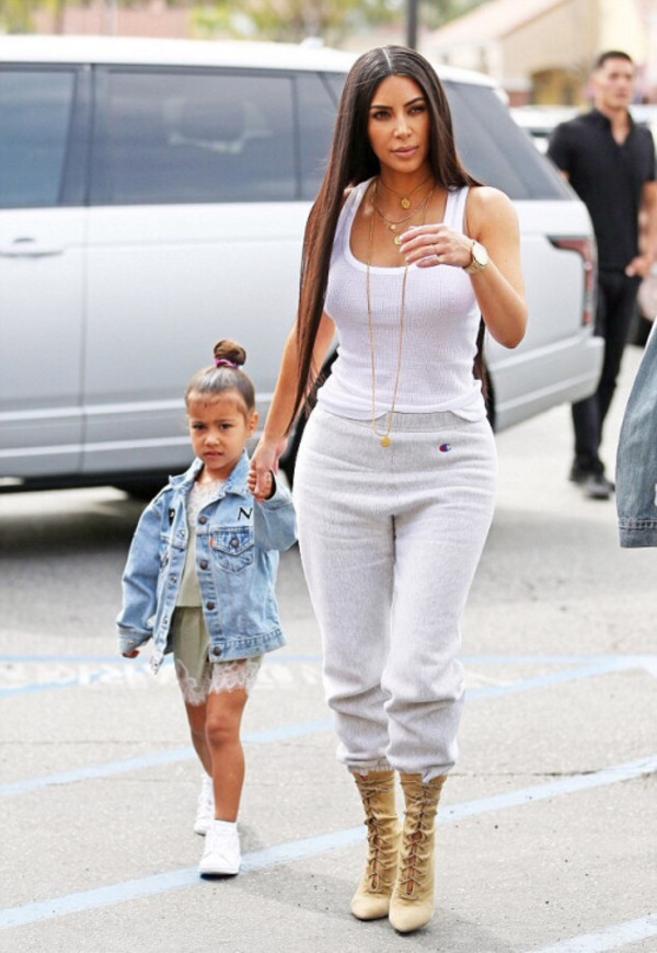 pants sweatpants top tank top streetstyle kardashians