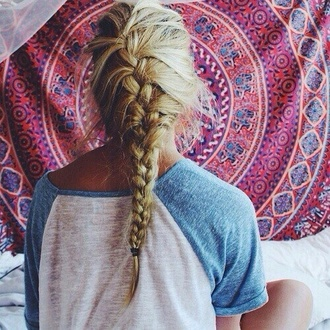 shirt blue and white home accessory braid hairstyles summer beauty