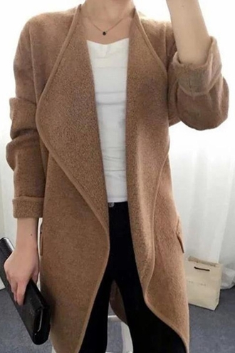 cardigan blazer beige brown nude fall outfits winter outfits cozy warm fashion style casual