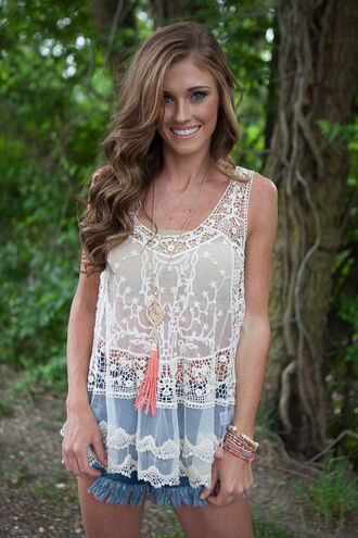 tank top lace top