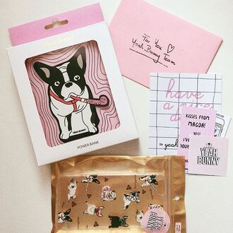 home accessory powerbank yeahbunny frenchie dog cute