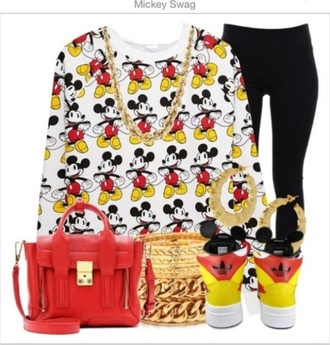 shirt mickey mouse swag gotta have it bracelet gold cartier love simple mickey bae sorry minnie pants jewels bag shoes