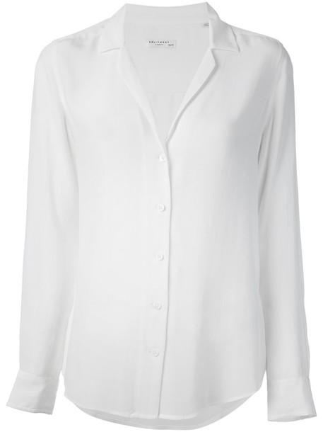 Equipment - 'Adalyn' shirt - women - Silk - M, White, Silk