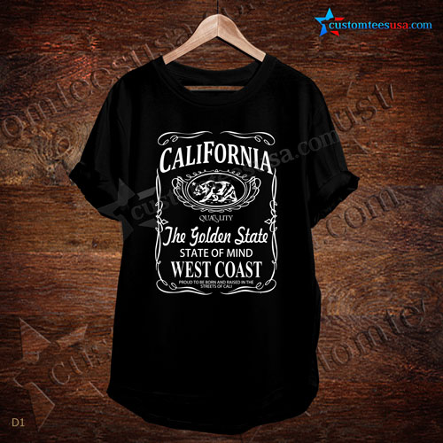 California The Golden State Quote T-Shirt - Adult Unisex Size S-3XL