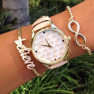 home accessory infinity believe bracelets two-piece