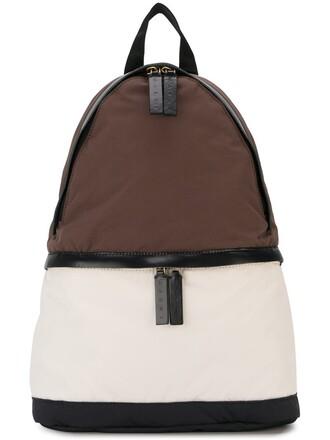 backpack brown bag
