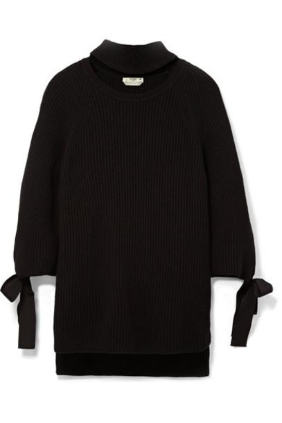 Fendi sweater bow embellished black
