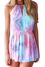 romper,pastel,colorful,fashion,style,girly,cute,summer,lilac,pink,blue,spring
