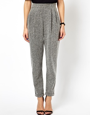 ASOS | ASOS Textured Peg Trousers at ASOS