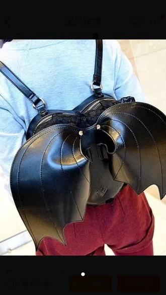 bag black bag hentai bag batman style goth gothic lolita carton kawaii