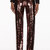 marc jacobs black and copper striped sequin trousers