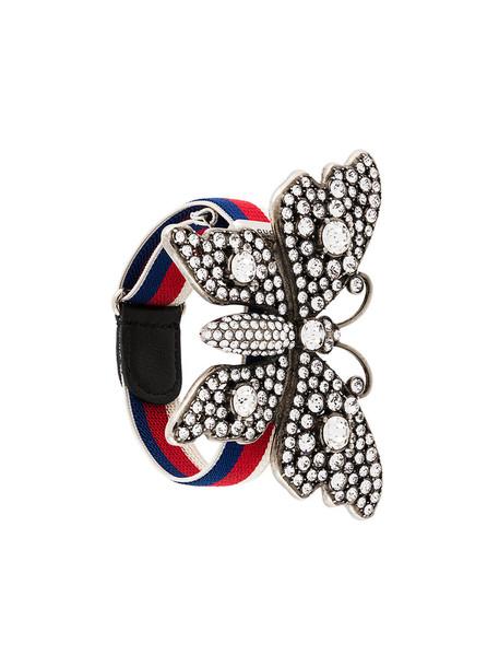 women butterfly grey metallic jewels