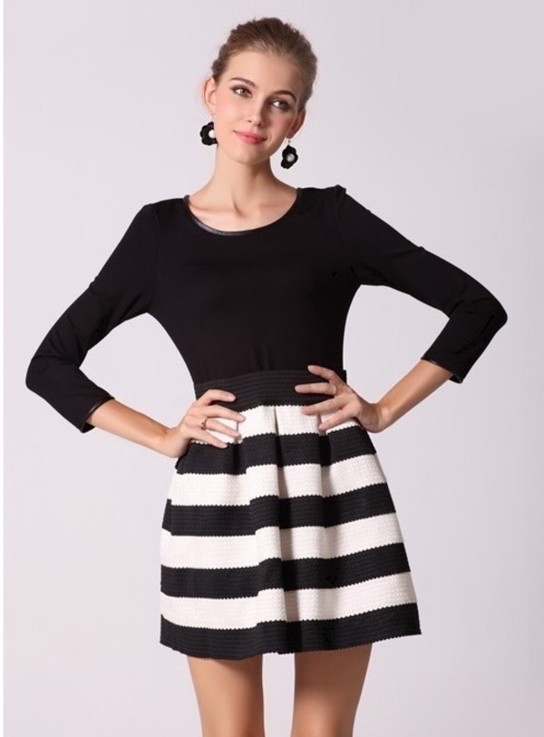 dress women fashion stripes style sweet style