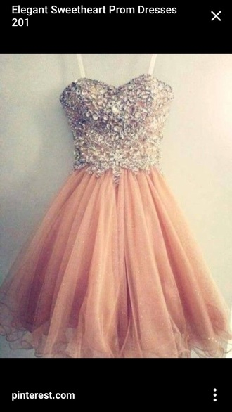 dress homecoming dress prom dress pink dress rhinestones