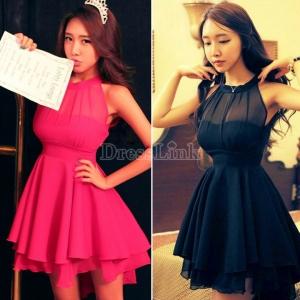 Women Novelty Cute Lace Dresses Peplum Party