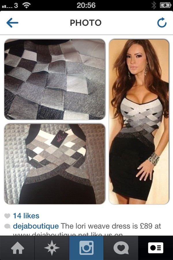 dress grey cut out bandage dress