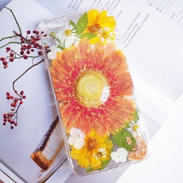 phone cover summer summer handcraft orange cute gift ideas floral yellow christmas holiday gift birthday gift gift ideas handmade handcraft cool phone cover iphone 7 plus flowers Holiday gift ideas valentines day gift idea mothers day gift idea iphone7 cover iphone cover