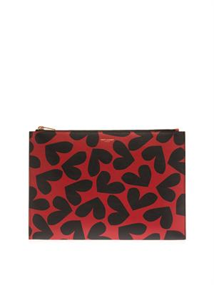 Big Hearts leather pouch | Saint Laurent | MATCHESFASHION.COM