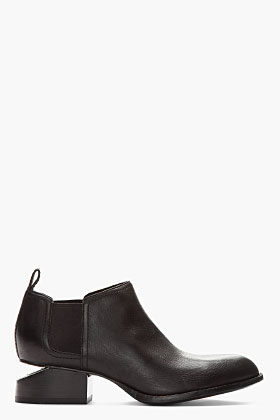 Alexander Wang Black Nickel-heeled Kori Ankle Boots for women | SSENSE