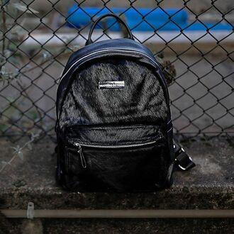 bag maniere de voir pony fur bag pony fur leather backpack backpack