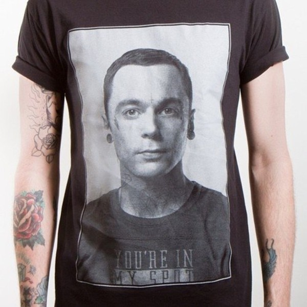 shirt big band theory dress sheldon coooper punk rock punk rock black and white cute t-shirt big bang theory