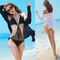 Aliexpress.com : buy free shipping fashion knitted cutout sexy one piece swimsuit female beach viscose sunscreen shirt hot springs 2 piece set from reliable shirt cartoon suppliers on dora sweet shop.