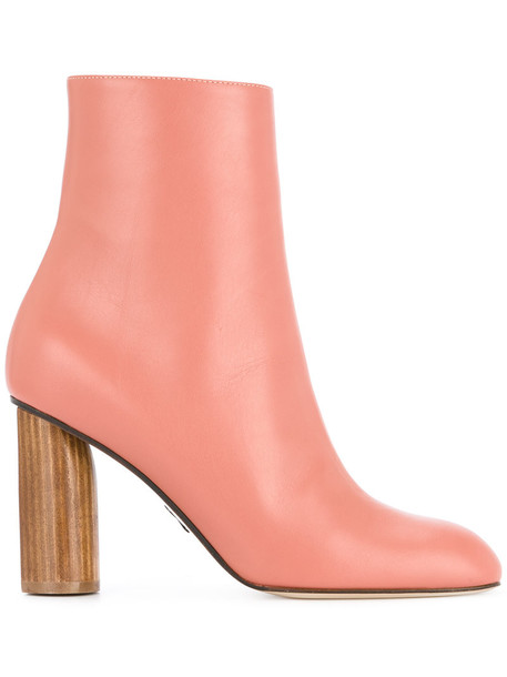 Paul Andrew women ankle boots leather purple pink shoes