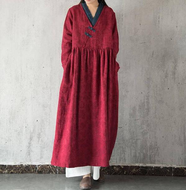 dress women long robe