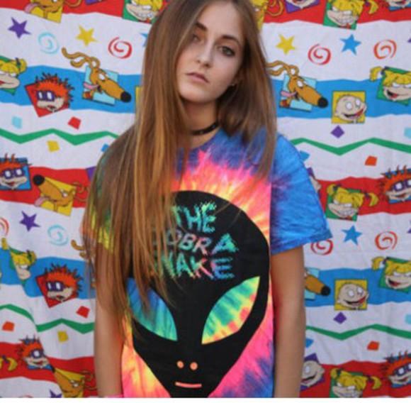 alien tie dye