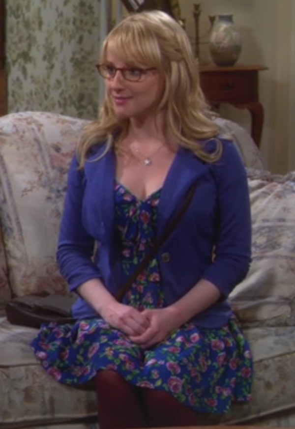 dress melissa rauch big bang theory floral dress. Black Bedroom Furniture Sets. Home Design Ideas