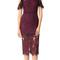 Alexis evie dress - burgundy