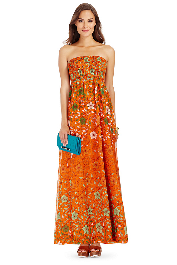 Hannah Strapless Chiffon Maxi Dress