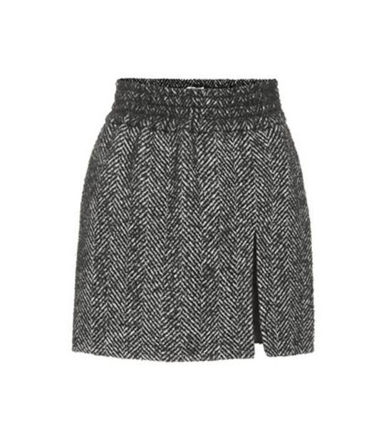 Miu Miu Chevron tweed miniskirt in black