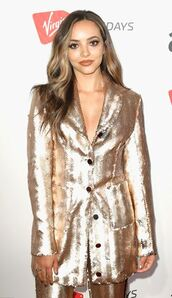 jacket,gold,jade thirlwall,blazer,little mix