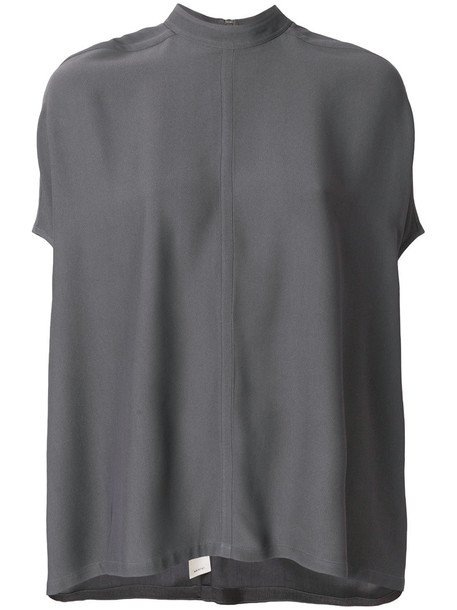blouse women grey top