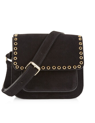 cross mini bag suede black