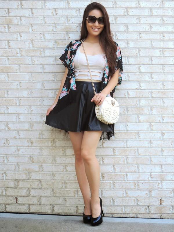 sensible stylista top skirt bag sunglasses